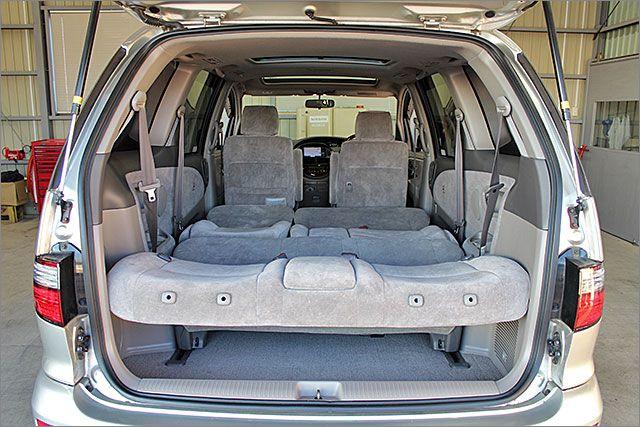 車内泊もできる余裕の広さです。