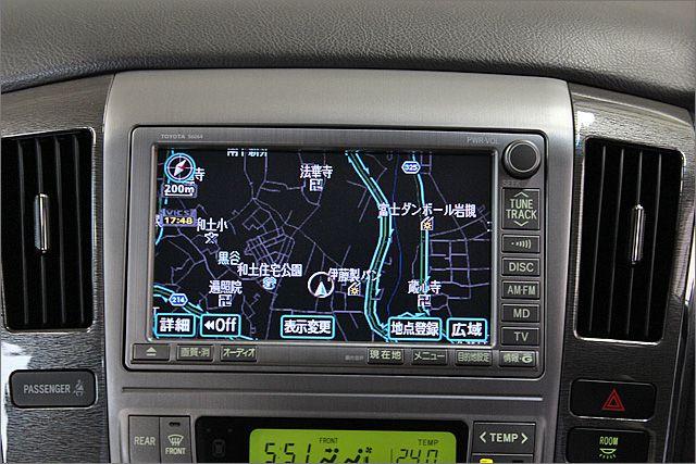 HDDナビ、バックモニター、フルセグ、ミュージックサーバー等が使用できます。