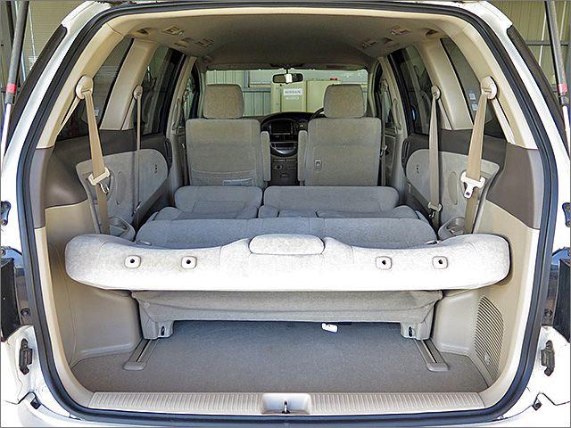 車内泊もできるスペースがあります。