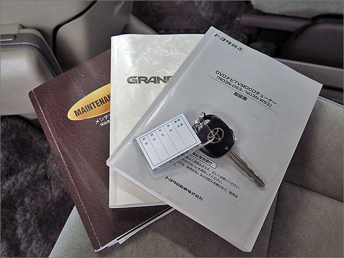 説明書、記録簿、キーレスございます。