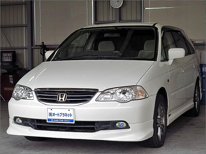 程度良好・車検整備付のオデッセイです。装備はDVDナビ、CD、MD、ETC、キーレス、エアロ、アルミ、HIDライト付きになります。