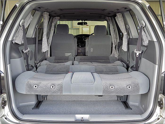 フルフラットにもでき、車内泊も楽しめます。