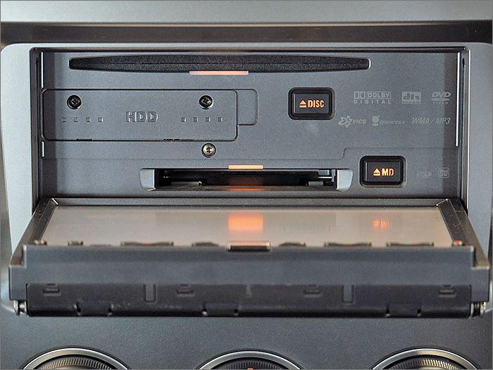 DVD再生可、CD、MD、ラジオが使用できます。