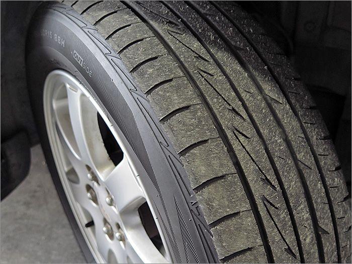 タイヤは半分程度になります。