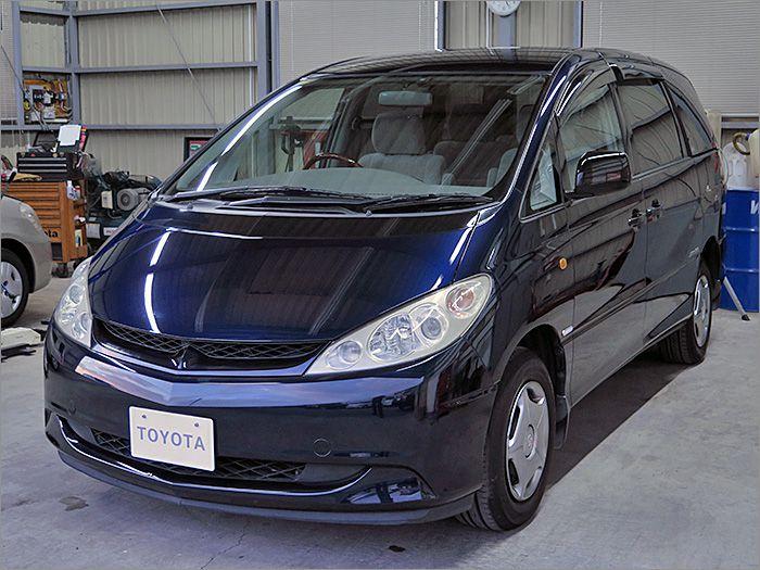 車両状態良好のエスティマハイブリッドです。装備はDVDナビ、CD、MD、ETC、キーレス、HIDライト付き。