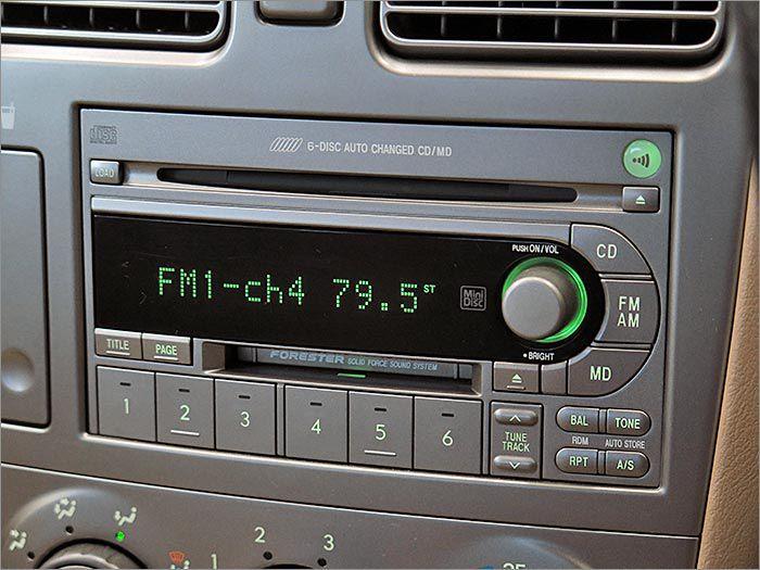 CDが動作不良ですが、MDとラジオが使用できます。
