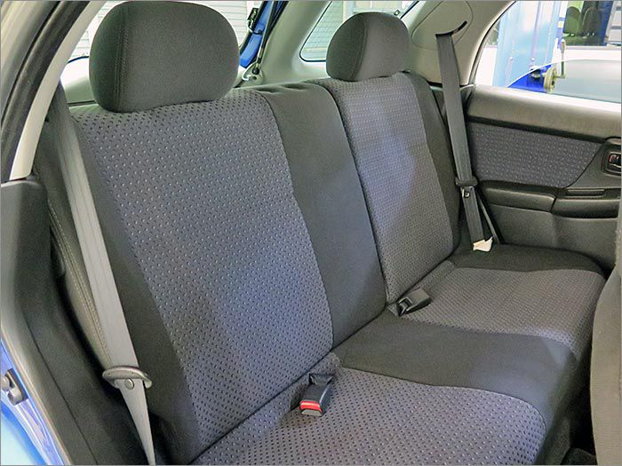 後部座席なんかは使用されていなかったようでコンディションはとても良いです。