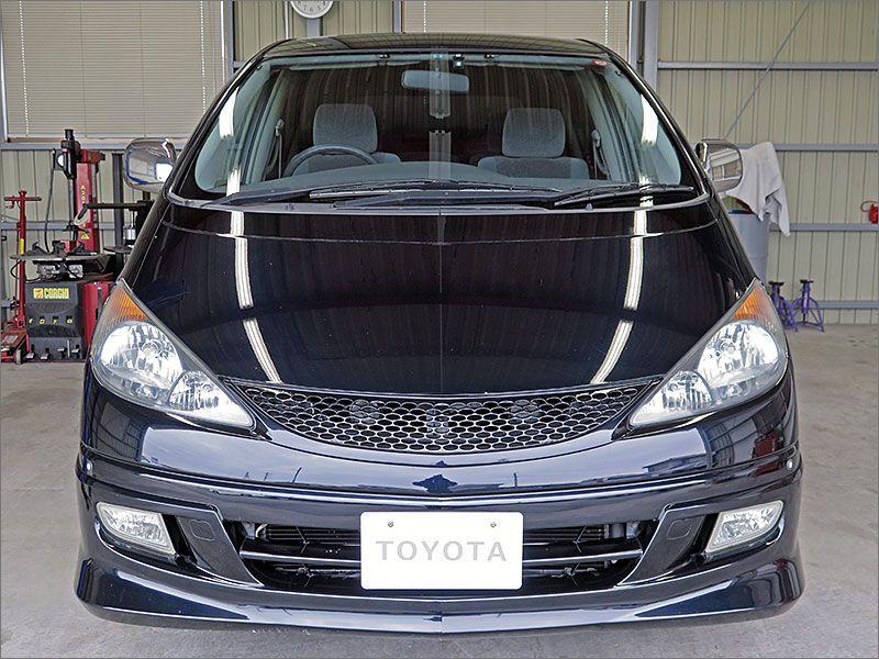 車両状態良好のエスティマ4WDです。装備はHDDナビ、DVD再生、CD、キーレス、エアロ、アルミ、HIDライト付き。