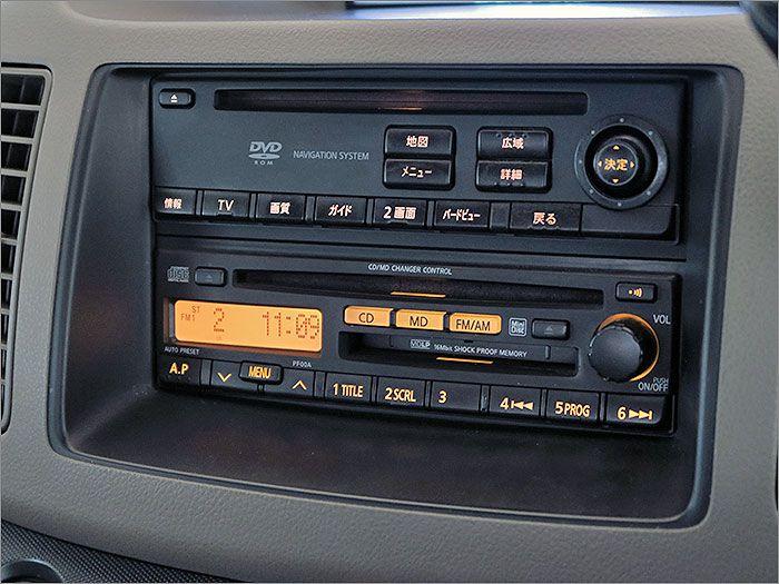 CD、MD、ラジオが使用できます。※ナビロムの取り出しができない状態ですが、ナビは使用可能です。