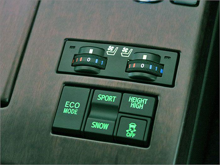 エアーシートで快適な環境で運転できます。