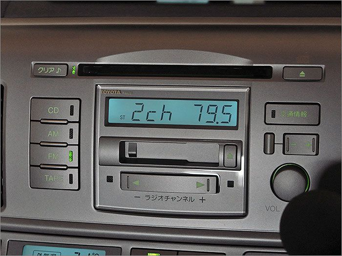CD、カセットテープ、ラジオが使用できます