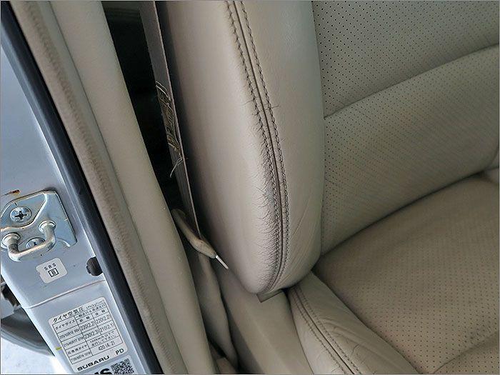 運転席シート、クリーニングは施工したのですが、すこし使用感が残っております。