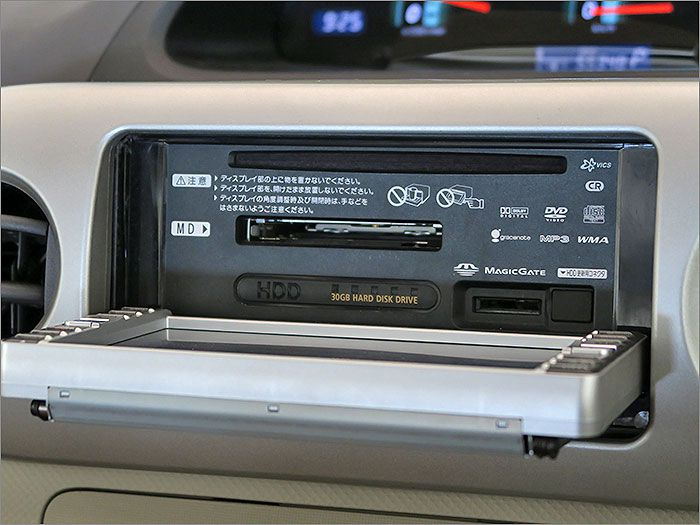 オーディオはCD、MD、ラジオが使用できます。