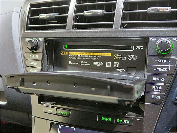 オーディオはDVD再生、CD、ラジオが使用できます。