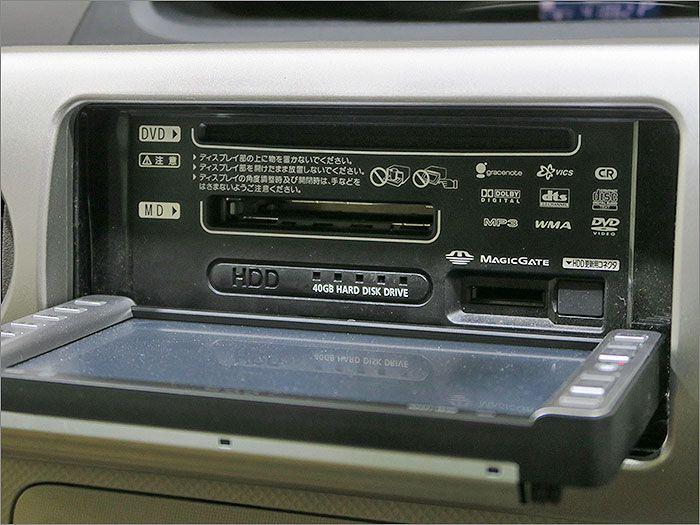 オーディオはCD、DVD再生、MD、ラジオが使用できます。